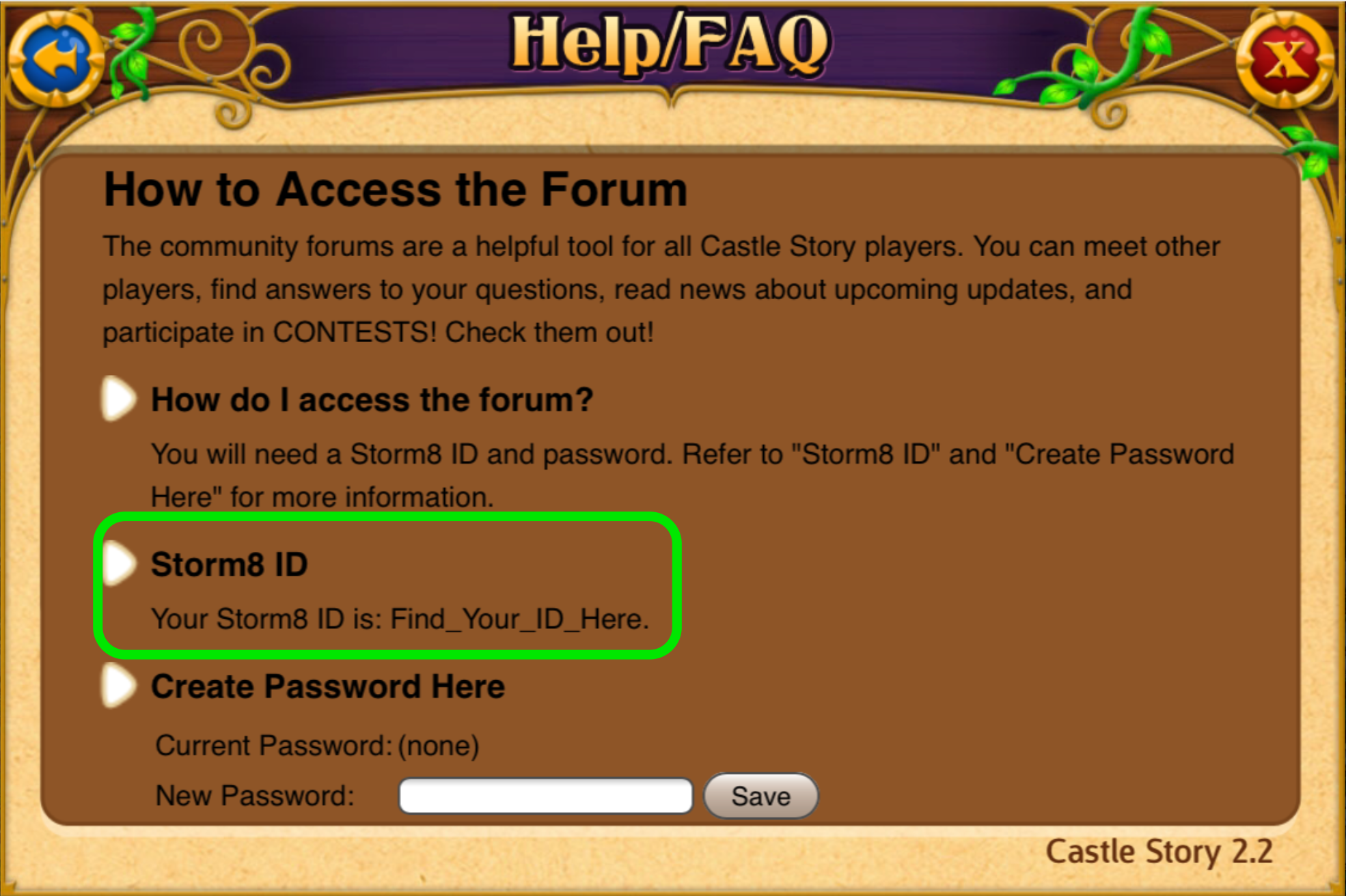 how to find storm8 id